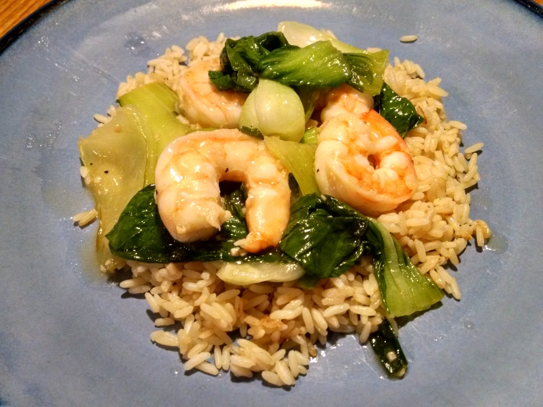 Shrimp w Bok Choy